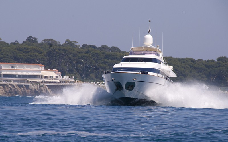 Corporate hospitality aboard luxury chartered yacht in the Western Mediterranean